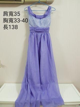 淺紫色伴娘服
