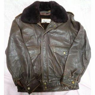 韓國製 D1560 G1 飛行皮衣 厚實羊皮 夾克 40號 Korea A2 B3