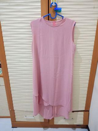 Dress pink asymetis