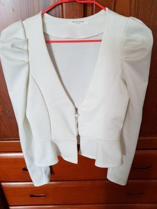 正韓白色外套