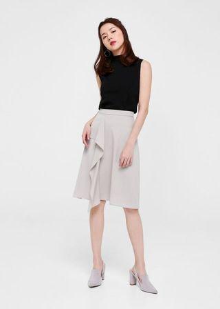 Elana Cascade Midi Skirt LOVE BONITO