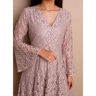 full lace dress (white, pink)
