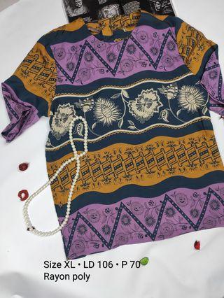 Blouse abstrak batik vintage #mauovo #joinoktober