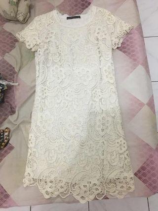zara off white dress