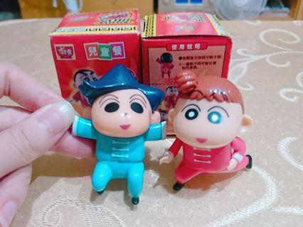 SUKIYA すき家 蠟筆小新 風間 妮妮 拉麵大亂鬥 功夫小子 絕版 公仔 盒玩 玩具