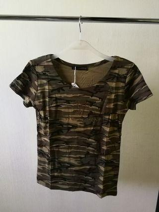Army styled top