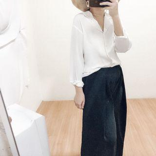 Plain white blouse