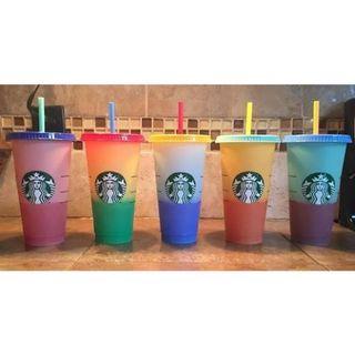 Original Starbucks Cold Cup Reusable Color Changing 2019 Edition Plastik Ventra