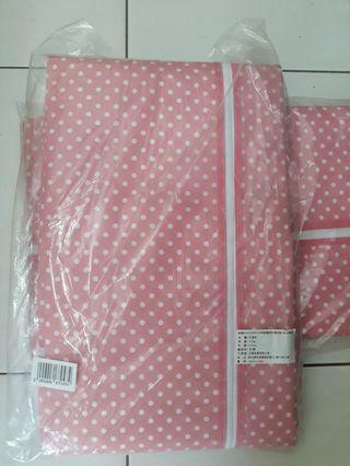 全新粉色點點衣櫥布套衣櫥套收納套衣物防塵套鐵架布套