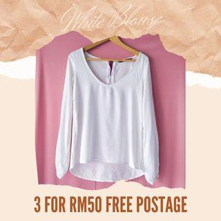 White Shirt 3 FOR RM50 INC POSTAGE