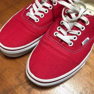 (二手)Vans AUTHENTIC RED US9  #紅色 #板鞋