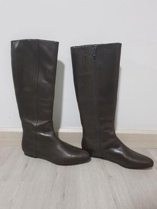 Calvin Klein Leather Boots for Girls (Size 36)