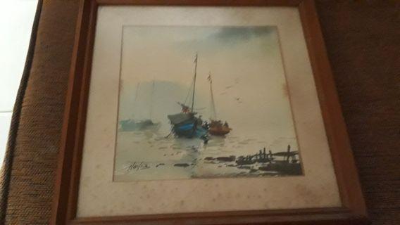 Lukisan Perahu Lama