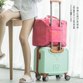 行李箱包 拉桿包  拉桿行李袋  收納包  手提袋  收納袋  購物袋   環保袋  折疊旅行袋 玟紅色