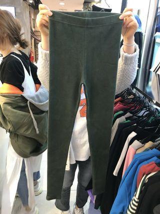 韓國 棉質內搭褲墨綠色布標L號 全新