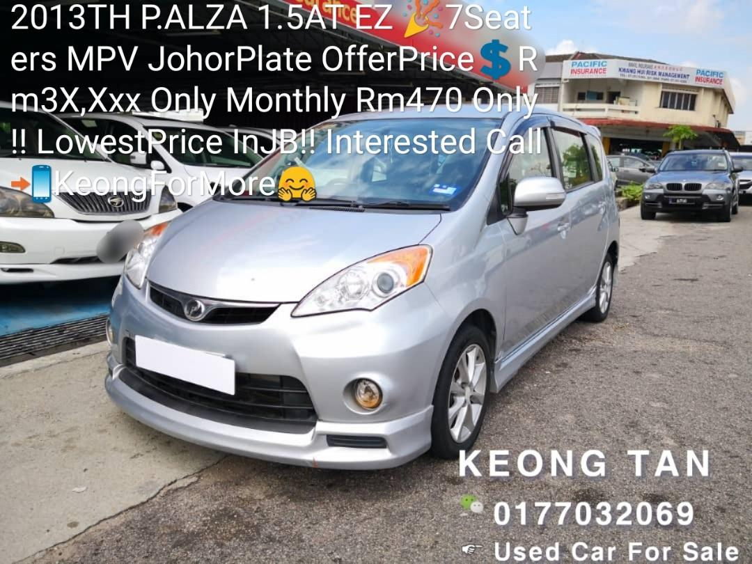 2013TH P.ALZA 1.5AT EZ 🎉7Seaters MPV JohorPlate OfferPrice💲Rm3X,Xxx Only Monthly Installment Rm470 Only‼LowestPrice InJB‼Interested Call📲KeongForMore🤗