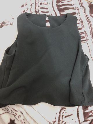 黑色短上衣