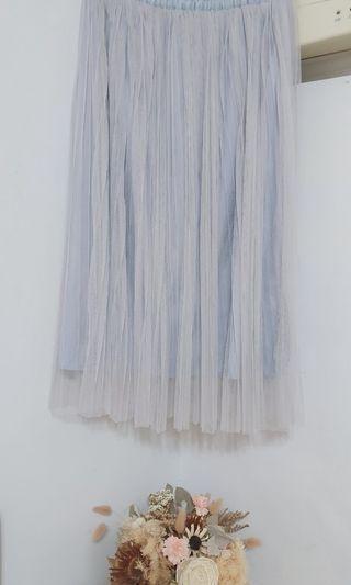 pazzo 鬆緊帶雙層紗裙