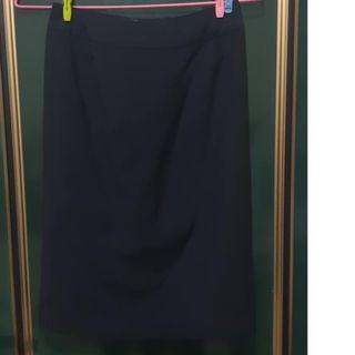 無印良品 及膝裙窄裙