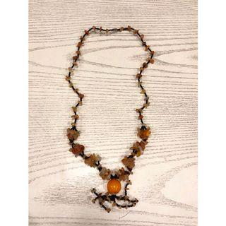 Kalung Batu Etnik Asli Kalimantan Orange Etnique Stones Necklace