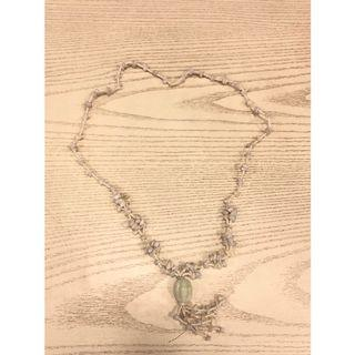 Kalung Batu Etnik Asli Kalimantan White Etnique Stones Necklace