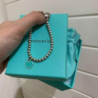 專櫃正品 Tiffany&co 珠珠手鍊 銀珠手鍊 純銀 琺瑯 經典招牌款
