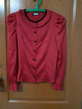 ECCO紅色襯衫