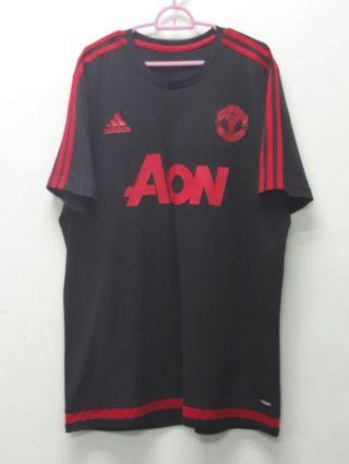 Adidas Manchester United Black Shirts XL