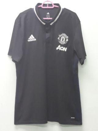 Adidas Manchester United Polo Black Shirts XL