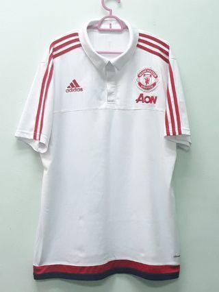 Adidas Manchester United Polo White Shirts XL