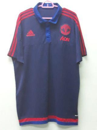 Adidas Manchester United Polo Blue Shirts XL