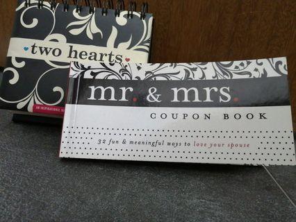 Wedding gifts couple coupon book