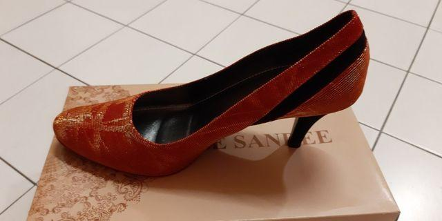 Le Sandee Red Shiny High Heels