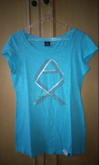 Kaos Biru - Blue Shirt - Armany Exchange