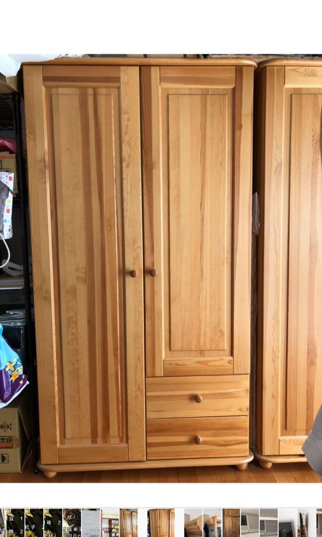 單人衣櫃實木(松木)