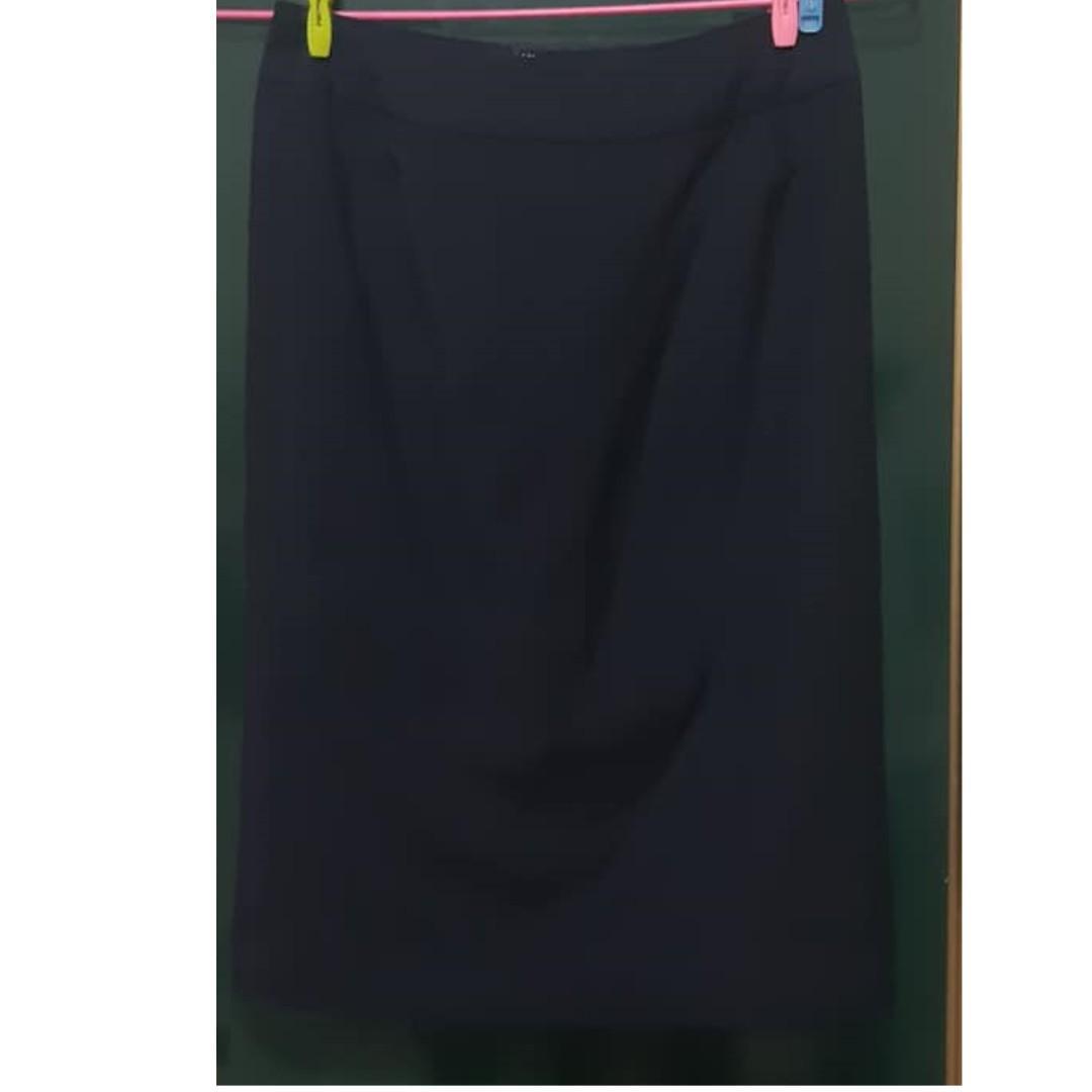韓版 及膝窄裙