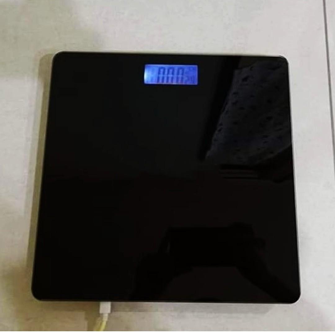 全新充電式電子體重計 體重秤 溫度計
