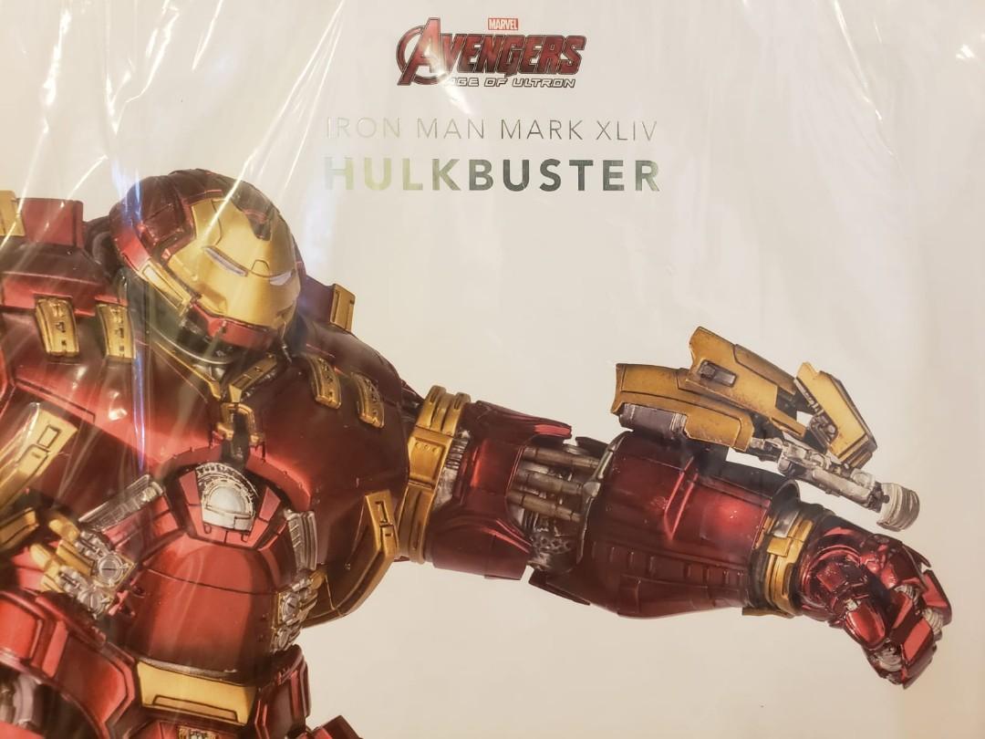全新超合金未開封品 Comicave Hulkbuster 1:12 Iron Man Mark44 新改良修正版 齊件超可動 超高重合金設計 金屬關節 眼胸腳背有燈 全高28cm 有啡盒 原裝絕版正品