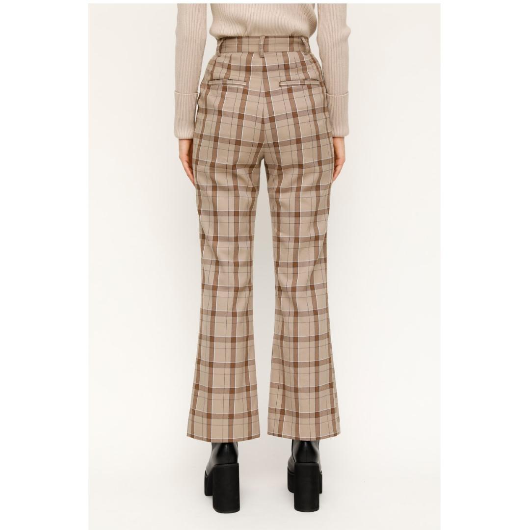 [全新 免運]日本正品 SLY 格子小喇叭長褲