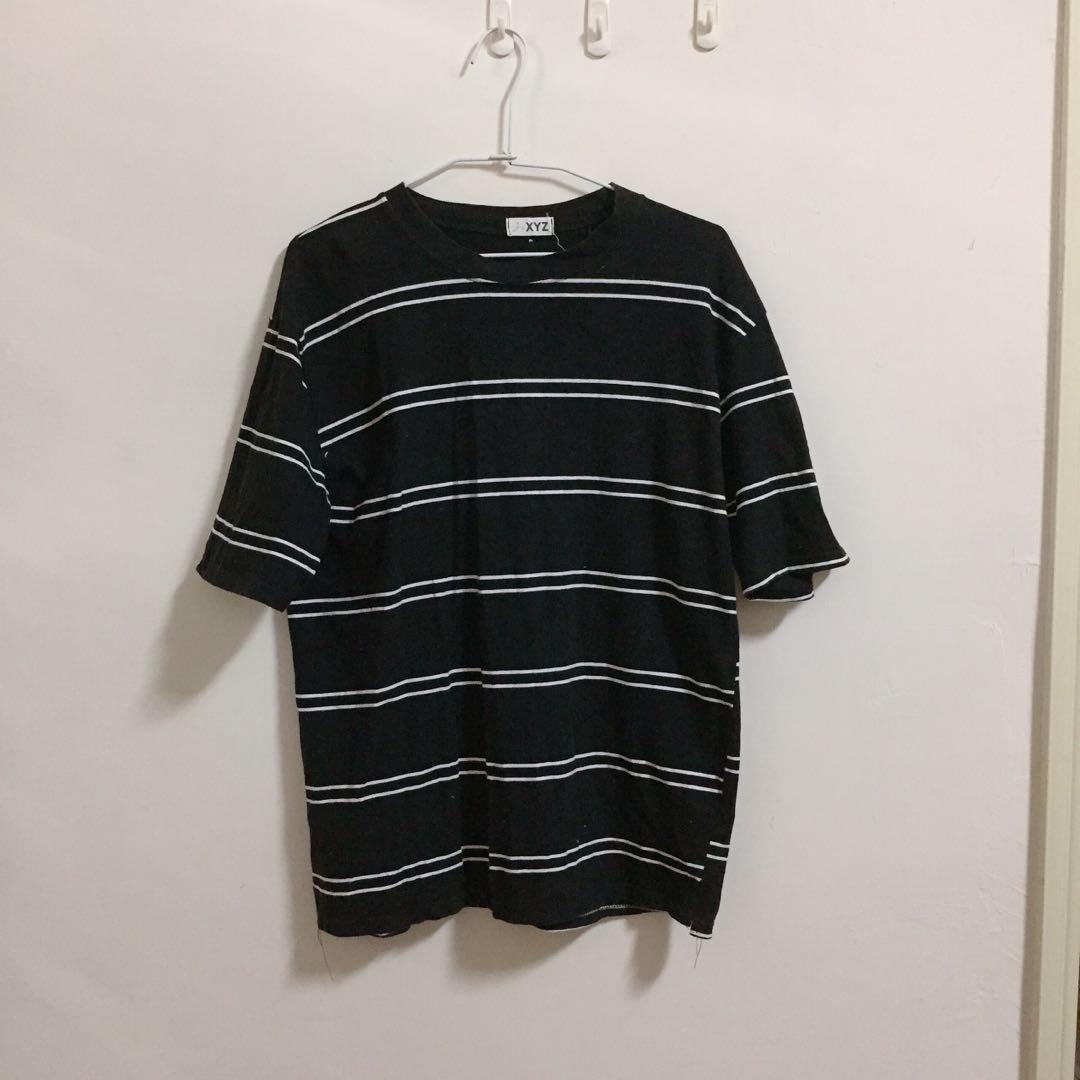 全館蝦皮免運❤️ 黑色條紋上衣/T恤