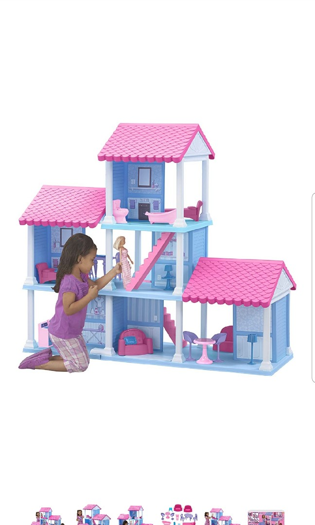 American Plastic Toys Fashion Doll Delightful Large Barbie Doll House Condo Dollhouse