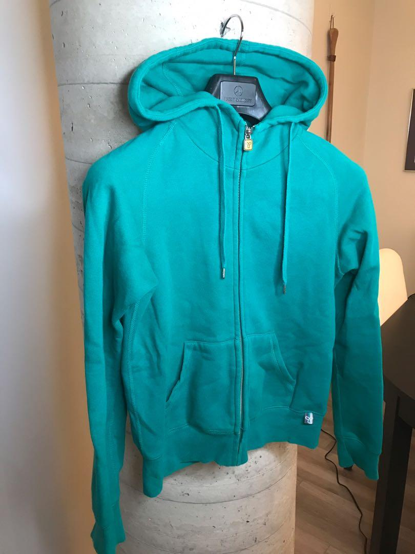 Aritzia TNA Fleece Lined Emerald Green Hoodie Small