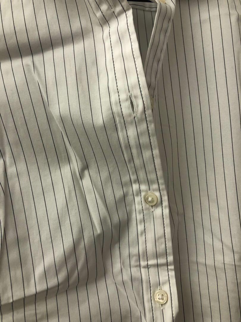 Banana Republic Stripes Sleeveless Shirt Top Size 4 間條 OL 返工 背心 恤衫 New