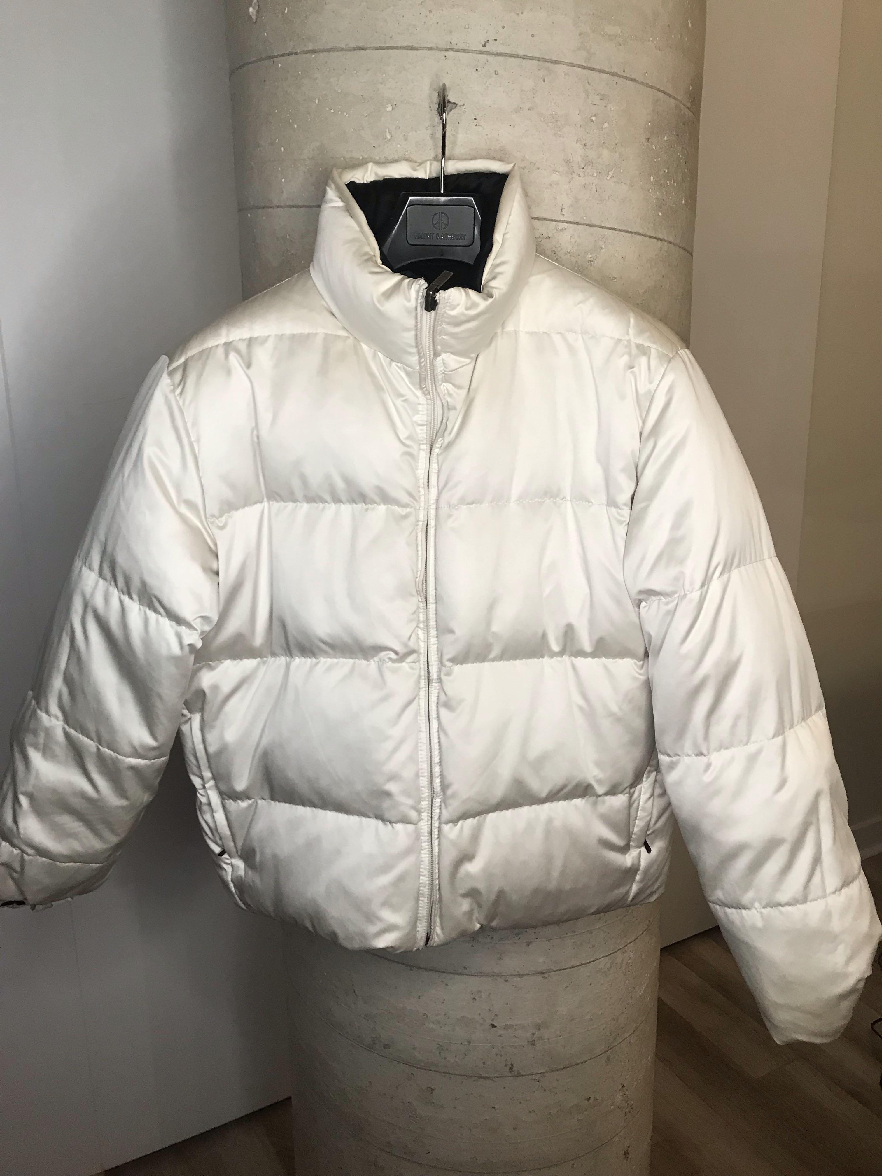 Black and White Reversible Winter Bomber Jacket Size L
