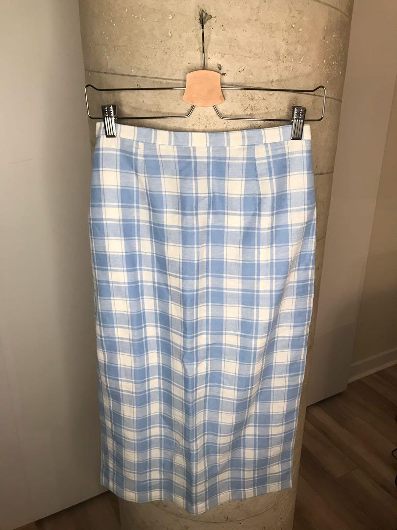 Blue and White Pencil Skirt from The Dot Size Small