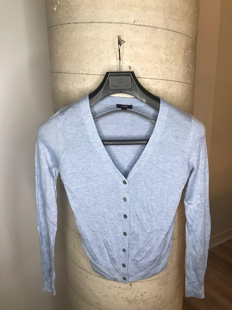 Cardigans Size Small: Black, Light Blue & Grey $10 Each