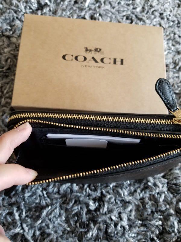 現貨❗️ Coach Double Wristlet Pouch  雙拉鍊卡片散銀袋