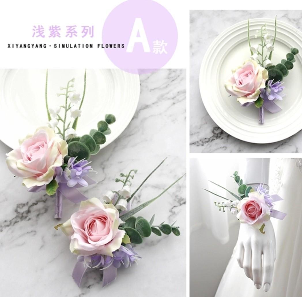Floral Corsages Handmade Mauve Light Purple