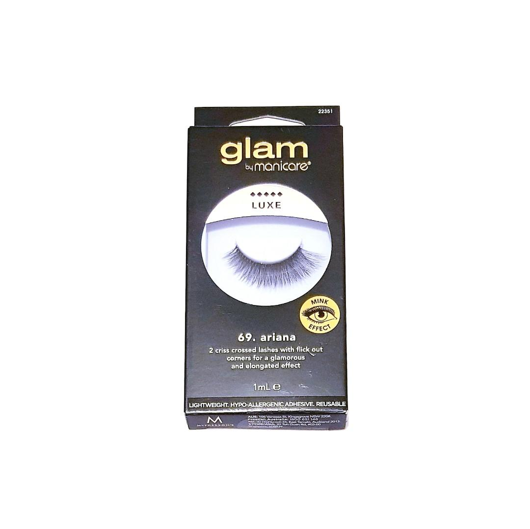 Glam By Manicure Natural Luxe Wow Mink Effect No.69 Ariana Criss Cross Fake Eyelashes