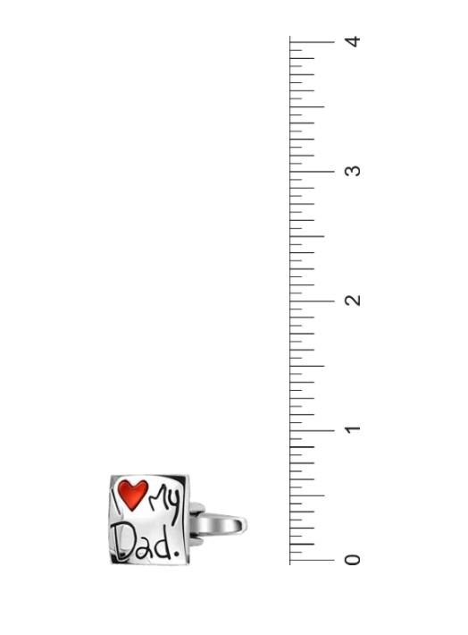 I Love My Dad Red Heart Square Shirt Cuff s Father Daddy Steel Plated